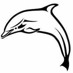 Dolphin tattoo stencils