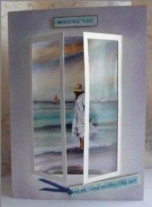 French Window Card by Sheila Weaver