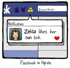A Zelda le gusta su enlace