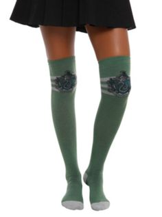Harry Potter Slytherin Over-The-Knee Socks from HotTopic.com
