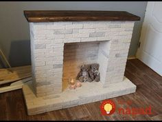 Simple but nice. Why do half of these fake fireplaces forget the hearth? in fireplace ideas christmas Diy Christmas Fireplace, Faux Fireplace Mantels, Simple Fireplace, Candles In Fireplace, Fireplace Cover, Victorian Fireplace, Rustic Christmas, Christmas Crafts, Limestone Fireplace