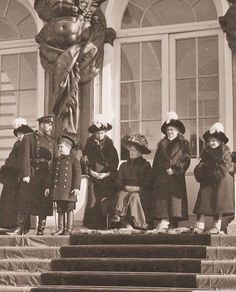 The Russian Imperial Family, Catherine Palace, c. 1912
