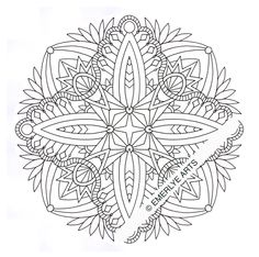 Design for stained glass picture on cakes.~121220+Scalloped+Mandala+WMK+Web.jpg (600×596)