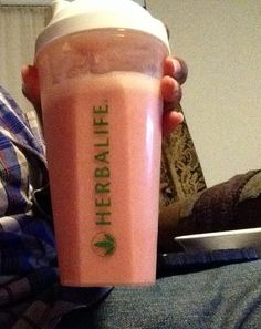 Orange Strawberry-Vanilla Protein Shake Yummy!!! #herbalife