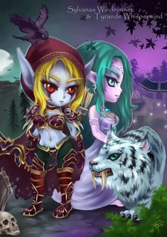 Image result for wow tyrande whisperwind chibi