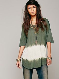 Free People We The Free Bleach Stripe Tee Hippies, Gestreiftes T-shirt,  Bohemian 48ac06ccb1
