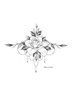 Excellent Écran Tatouage mandala Concepts,Rose Tattoo / Tätowierer Bery / Tattooflash - F. Unique Tattoos, Beautiful Tattoos, Small Tattoos, Feminine Tattoos, Body Art Tattoos, Tattoo Drawings, Sleeve Tattoos, Foot Tattoos, Tattoo Sketches