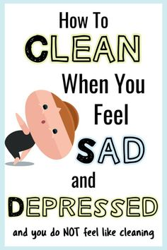 How To Get Motivated To Clean When Depressed & UN-Motivated (Cleaning Motivation. - How To Get Motivated To Clean When Depressed & UN-Motivated (Cleaning Motivation! Household Cleaning Tips, Cleaning Day, Cleaning Checklist, House Cleaning Tips, Diy Cleaning Products, Cleaning Solutions, Spring Cleaning, Cleaning Hacks, Cleaning Routines