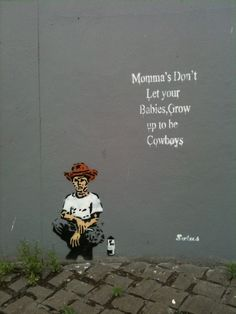 It makes me laugh that this street art is under a bridge in Dublin, Ireland. Willie Nelson would like this...