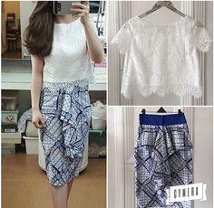 Model Dress Batik, Batik Dress, Kebaya Lace, Batik Kebaya, Batik Fashion, Diy Fashion, Womens Fashion, Dress Brokat, Blouse Batik