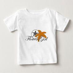 Sand Dollar Starfish Flower Girl Baby T-Shirt