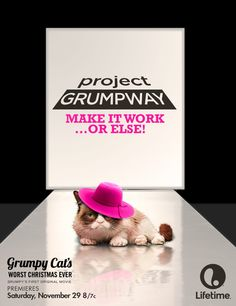 Grumpy Cat on the Project Runway stage? Project Grumpway!