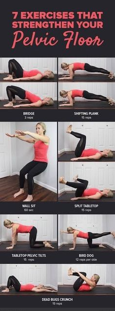 Add these strengthening pelvic floor exercises to your workout routine to improv. - Fitness and Exercises Pilates, Floor Workouts, Easy Workouts, Fitness Workout For Women, Fitness Tips, Post Pregnancy Workout, Muscle Fitness, Sport, Weight Training
