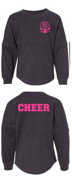 e77e4622 CHEER POM JERSEY - Personalized Cheer Pullover - Cheer Sweatshirt -  Cheerleader Cheerleading gift Cheer shirts Spirit Jersey #cheerleading #ad