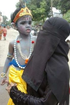Cultural unity in India, unlike a different picture some people paint. :)