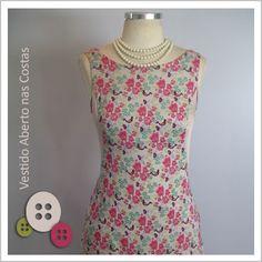 Vestido Aberto nas Costas (Passarinho) - Café Costura de R$ 252 por R$200