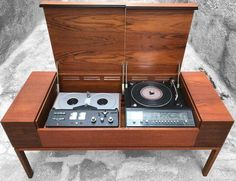 All in one stored unit, good old stereo system, circa. Vinyl Record Cabinet, Stereo Cabinet, Vintage Records, Vintage Music, Kenwood Audio, Vintage Stereo Console, Vinyl Record Collection, Recording Studio Home, Audio Room