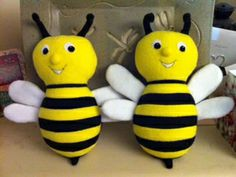 Benji the Bumblebees by Melissa Vink for the Bee Mine Sew-Along.