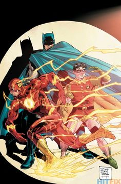 Batman #38 - The Flash variant cover by Tony Daniel, colours by Tomeu Morey *