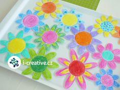 návod na rozvíjející se papírové květy