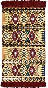 Inca Cross Stitch Tapestry Rug/Wall Hanging