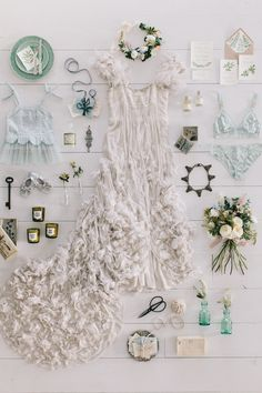 Flat Lay / The Botanist / Styling by The LANE. / Wedding Style Inspiration / LANE (instagram: the_lane) #bohemian #bride