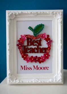 best teacher personalised picture end of term gift for teachers