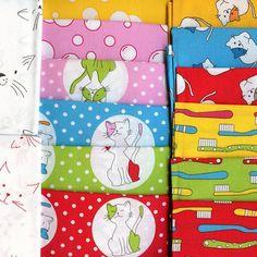 50 x 110 cms Yellow Toothbrushes Half Metre Cats Pyjamas Jodie Carleton