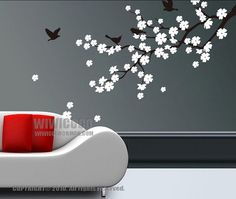 cherry flower wall decals by wiwicoco, via Flickr