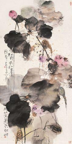transcendental abstractionism holger lippmann / artist www / twit / fb Zen Painting, Korean Painting, Japan Painting, Traditional Ink, Traditional Paintings, Chinese Painting Flowers, Chinese Flowers, Watercolor Flower, Watercolour