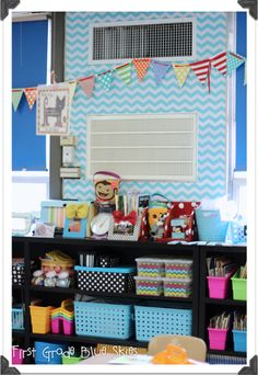 First Grade Blue Skies: First Grade Blue Skies Classroom Reveal 2013!