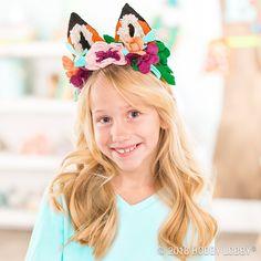 DIY these fun felt fox ears for a quirky cute headband!