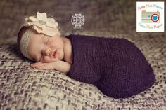 Ahhhh I am going to have to buy some of these for baby photo sesh!!    Eggplant Purple Nubble Stretch Baby Wrap Photo Prop $17.00, via Etsy.