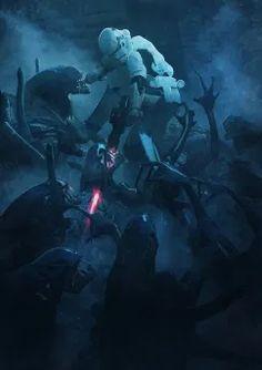 501st Legion, Alien Vs Predator, Stormtroopers, Les Aliens, Cuadros Star Wars, Images Star Wars, Darth Vader, Bd Comics, Fan Art