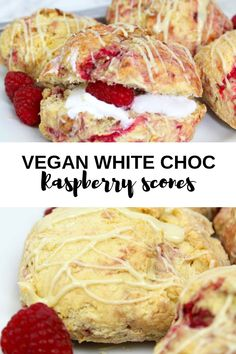This white chocolate and raspberry scones recipe is super easy. They're dairy-free and egg-free, making them the perfect vegan afternoon tea treat. White Chocolate Raspberry Scones, Dairy Free White Chocolate, Scone Recipe No Egg, Vegan Cake, Vegan Desserts, Vegan Afternoon Tea, Tea Recipes, Cake Recipes, Vegan Teas