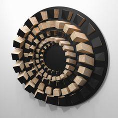 Wooden Wall Art, Wooden Walls, Wood Sculpture, Wall Sculptures, Sculpture Ideas, Wooden Textures, Acoustic Panels, Wall Design, Wood Crafts