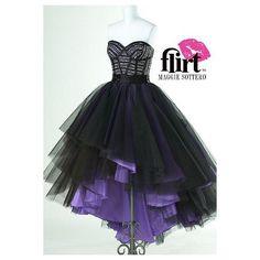 Purple And Black Prom Dress