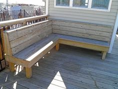 built in deck benches | Rooftop Decks for Baltimore Rowhomes