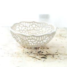 Small Porcelain Lace Bowl