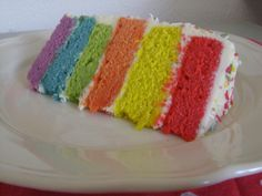 Easy 6-Layer Rainbow Cake - Step by Step SPONGE CAKE / CREAM CHEESE ICING