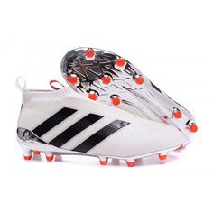 size 40 f68ca 03b5c 2016 Adidas Ace16 Purecontrol FG-AG Football Boots White Black Pink Adidas  Soccer Shoes,