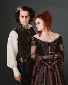 Johnny Depp & Helena Bonham Carter as Sweeney Todd & Mrs. Lovett in Sweeney Todd