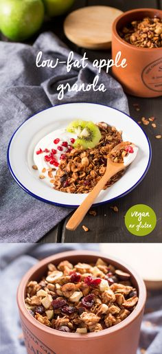 Homemade #lowfat #apple #granola that uses a secret ingredient to halve the…