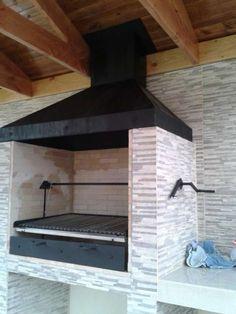 CAMPANAS Y PARRILLAS - #CAMPANAS #PARRILLAS #y Outdoor Barbeque, Outdoor Kitchen Patio, Outdoor Oven, Outdoor Kitchen Design, Outdoor Cooking, Design Barbecue, Grill Design, Barbecue Grill, Parrilla Exterior