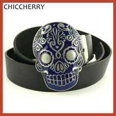 Caveira Mexicana Fivela De Cinto Western Cowboy Skull Belt Buckles Punk Rock Cool Accessories For Men Black PU Leather Belts New