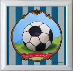 Soccer ball print for nursery childrens' room or by PlushPortraits