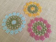 Tatted Coasters Pattern Pack Instant Digital por tattingbythebay