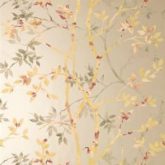 Anna French Tyndall Gold on Metallic Pewter tapéta - Paisley Home Chinoiserie Wallpaper, Wall Wallpaper, Pattern Wallpaper, Anna French Wallpaper, Designer Wallpaper, Textures Patterns, Wall Design, Printing On Fabric, Artwork