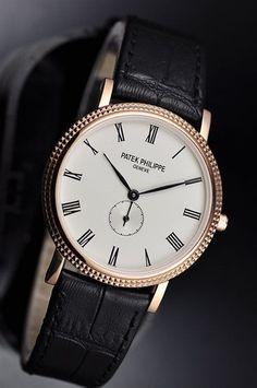 Patek Philippe Calatrava 18K Rose Gold Men's Watch