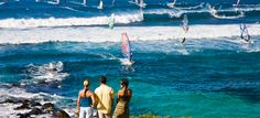Hookipa Beach in Paia - mid maui windsurfing capital
